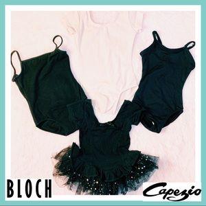 Ballet Dance Dancewear Leotard Pink Black Bodysuit